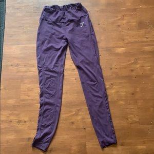 Purple gym shark leggings
